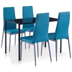 5-delige Eethoek blauw