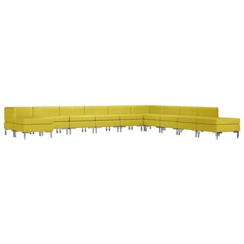 11-delig Bankstel stof geel