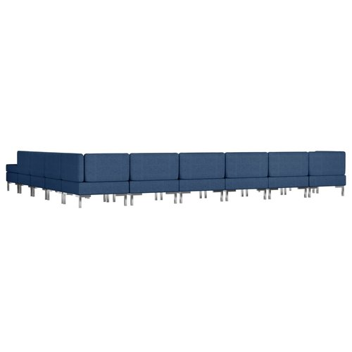 11-delig Bankstel stof blauw