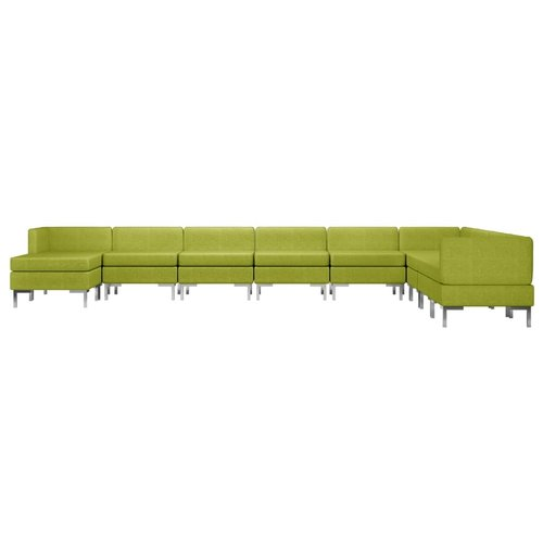 10-delig Bankstel stof groen