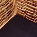 2-delig Bankstel met kussens natuurlijk rattan