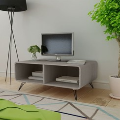 Salontafel 90x55,5x38,5 cm massief paulowniahout grijs
