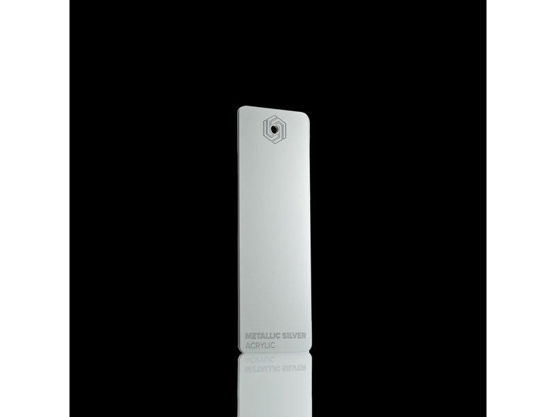 Acrylic Metallic Silver 3mm