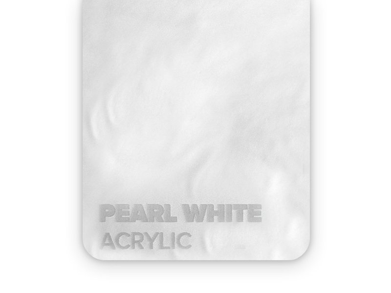 Acrylic Pearl White 3mm  - 3/5sheets