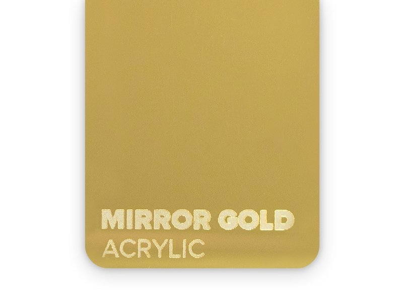 Acrylic Mirror Gold 3mm