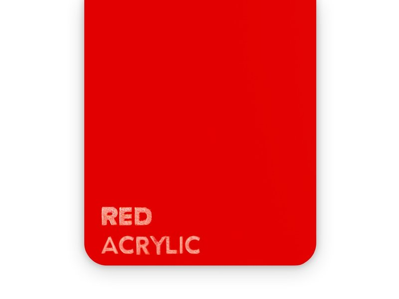 Acrylic Red 3mm  - 3/5sheets