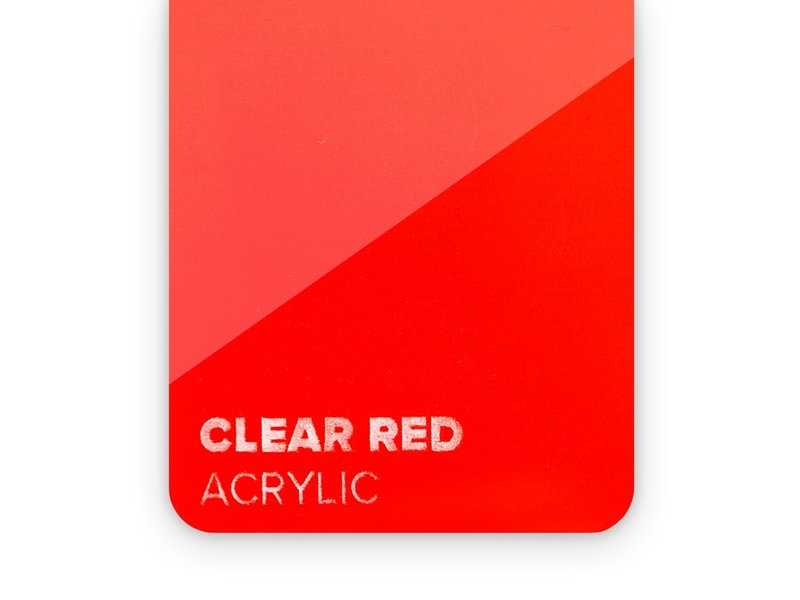 Acrylic Clear Red 3mm  - 3/5sheets