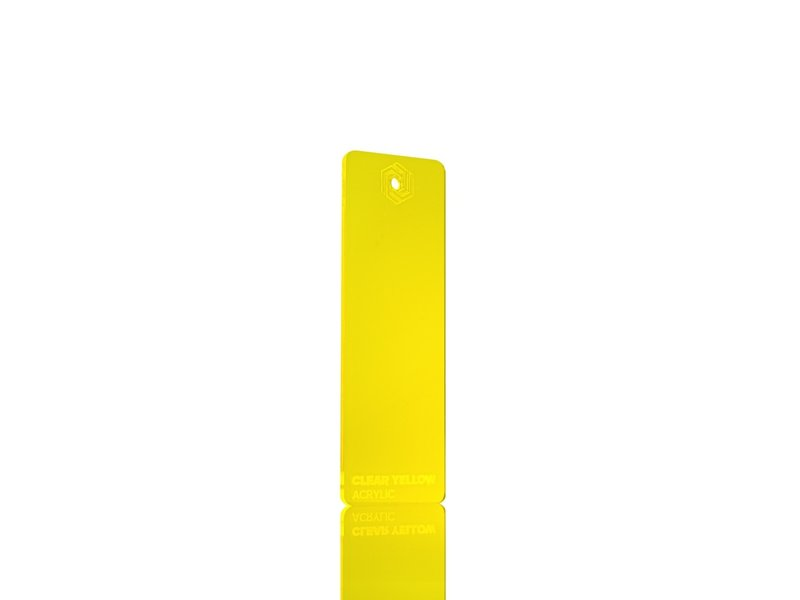 Acrylic Clear Yellow 3mm  - 3/5sheets