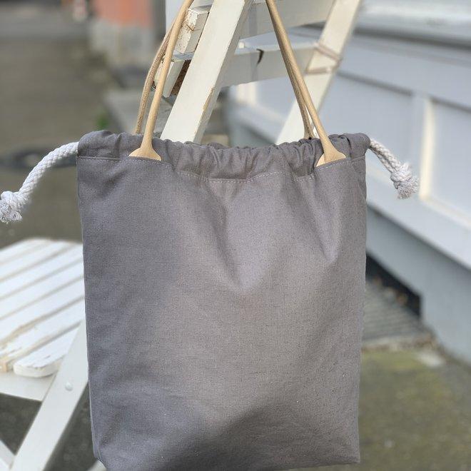 Projekttasche mit Echtledergriff