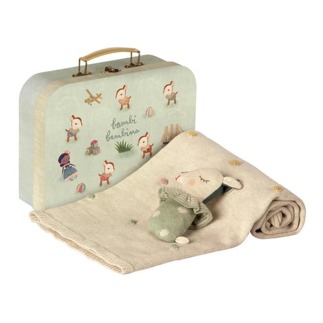 Baby Geschenk Set - Dusty mint