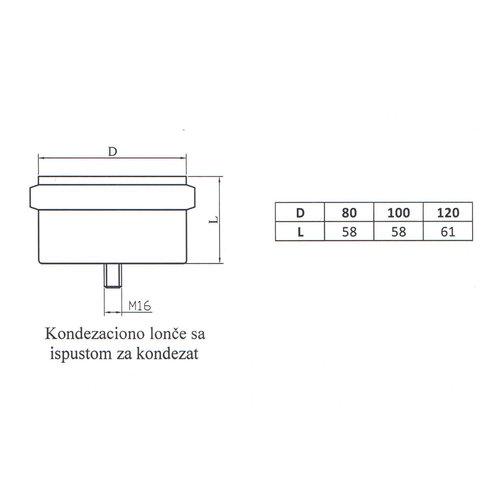 Kepo Kondensatdeckel für T-Stück, Durchmesser 120