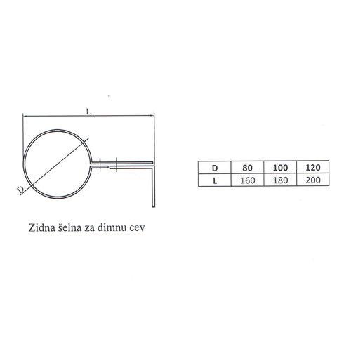 Kepo Muurbeugel , Diameter  120
