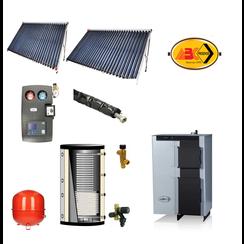Verwarming set, ABC Combo 25 - BST zonneboiler set 2x cpc 30- 600L buffer met tapwater