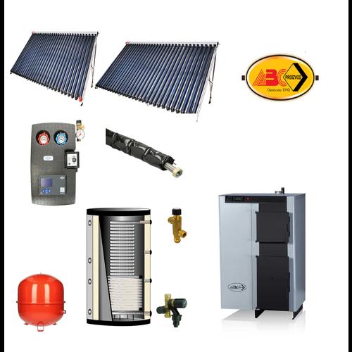 ABC Verwarming set, ABC Combo 25 - BST zonneboiler set 2x cpc 30- 600L buffer met tapwater