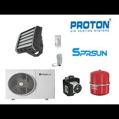 warmtepomp set Sprsun 9,5kw & Proton E25 voor verwarming en koeling