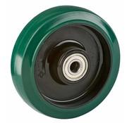 LIV SYSTEMS kolo + elastična gumi obloga Ø125 x W35mm Za 200kg