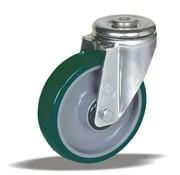 LIV SYSTEMS Swivel castor + injection-moulded polyurethane  Ø160 x W50mm for 300kg