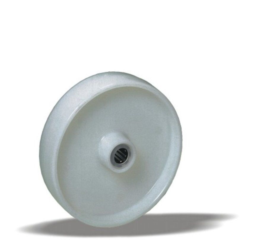 standard wheel + solid polypropylene wheel Ø125 x W38mm for  150kg Prod ID: 66719
