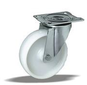 LIV SYSTEMS Swivel castor + solid polypropylene wheel Ø200 x W50mm for 250kg