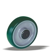 LIV SYSTEMS Transport wheel with injection-moulded polyurethane tread Ø125 x W32mm for 200kg