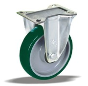 LIV SYSTEMS Fixed castor + injection-moulded polyurethane tread Ø160 x W50mm for 300kg