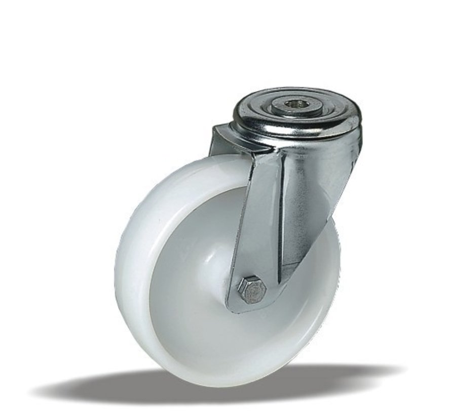 stainless steel Swivel castor + solid polyamide wheel Ø150 x W46mm for  300kg Prod ID: 41675