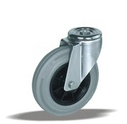LIV SYSTEMS Swivel castor + grey rubber tread Ø150 x W40mm for 170kg