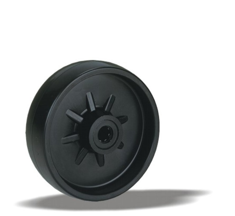 standard wheel + solid polyamide wheel Ø108 x W36mm for  200kg Prod ID: 91403