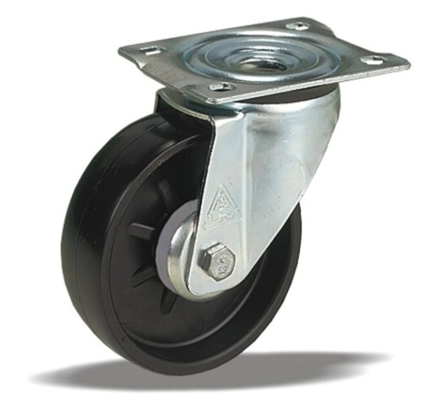 standard Swivel castor + solid polyamide wheel Ø108 x W36mm for  200kg Prod ID: 31814