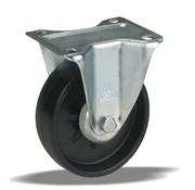LIV SYSTEMS Fixed castor + solid polyamide wheel Ø108 x W36mm for 200kg