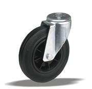 LIV SYSTEMS Swivel transport castor + black rubber tread Ø125 x W37mm for 130kg