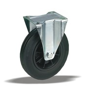 LIV SYSTEMS Fixed transport castor + black rubber tread Ø200 x W50mm for 230kg
