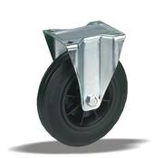 LIV SYSTEMS Fixed transport castor + black rubber tread Ø200 x W50mm for 230kg