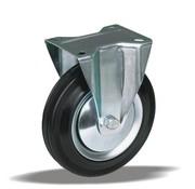 LIV SYSTEMS Fixed transport castor + black rubber tread Ø250 x W65mm for 300kg