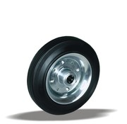 LIV SYSTEMS transport wheel + black rubber tread Ø250 x W65mm for 300kg