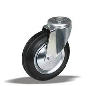 LIV SYSTEMS Swivel transport castor + black rubber tread Ø180 x W50mm for 200kg