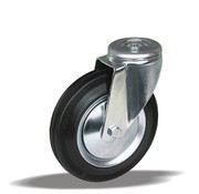 LIV SYSTEMS vrtljivo transportno kolo + črna guma Ø180 x W50mm Za 180kg