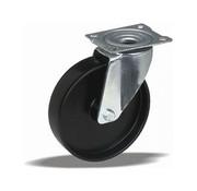 LIV SYSTEMS Swivel castor + solid polypropylene wheel Ø80 x W35mm for 100kg