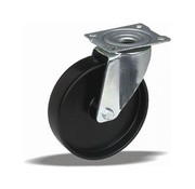 LIV SYSTEMS Swivel castor + solid polypropylene wheel Ø125 x W38mm for 150kg