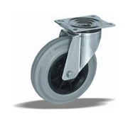 LIV SYSTEMS Swivel castor + grey rubber tread Ø160 x W40mm for 180kg