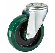 LIV SYSTEMS Swivel castor + elastic rubber tyre Ø160 x W50mm for 300kg