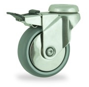 LIV SYSTEMS Swivel castor with brake + polyethylene tread Ø125 x W32mm for 100kg