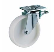 LIV SYSTEMS Swivel castor with brake + solid polyamide wheel Ø160 x W50mm for 400kg