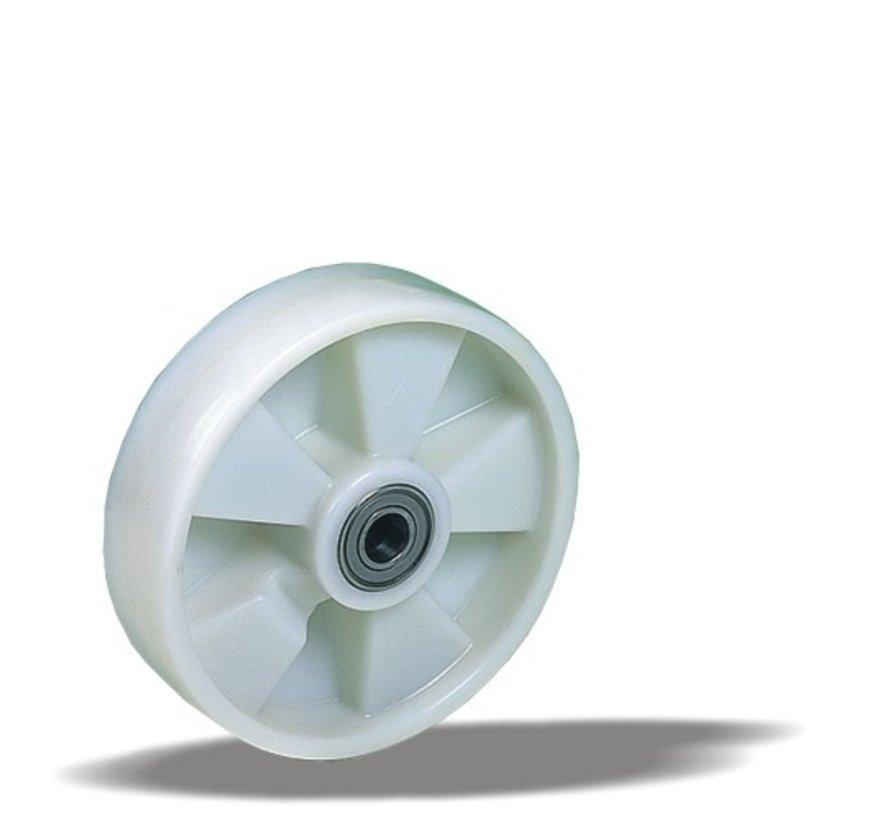 za težje delovne pogoje kolo + trdno poliamidno kolo Ø200 x W50mm Za  500kg Prod ID: 35605
