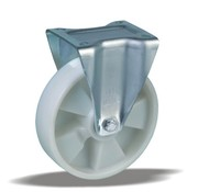 LIV SYSTEMS Fixed castor + solid polyamide wheel Ø200 x W50mm for 500kg