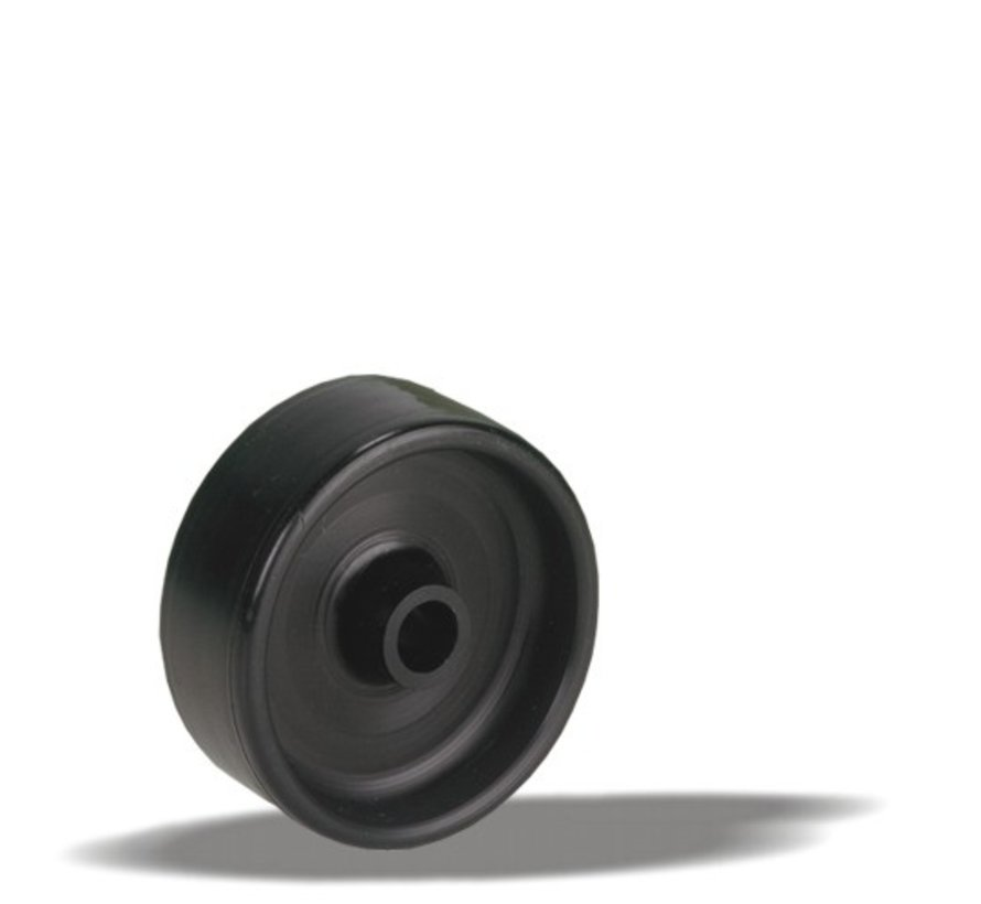 furniture wheel + solid polyamide wheel Ø50 x W17,5mm for  60kg Prod ID: 33674
