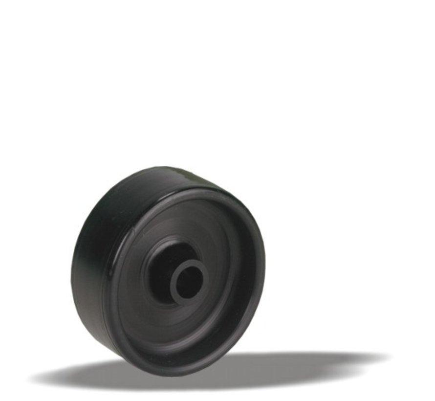 pohištvo kolo + trdno poliamidno kolo Ø50 x W17,5mm Za  60kg Prod ID: 33674