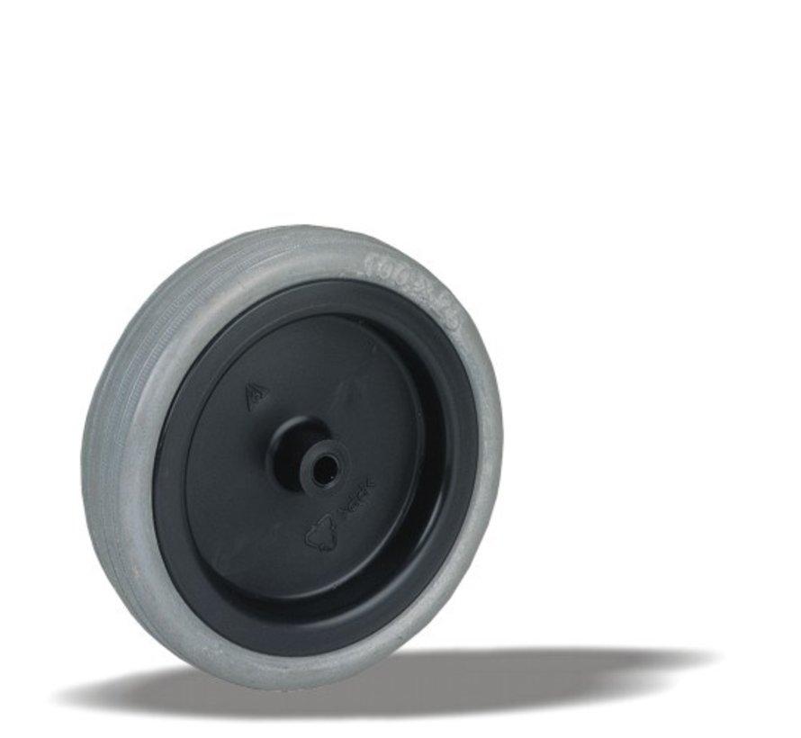furniture wheel + rubber tyre Ø75 x W25mm for  50kg Prod ID: 91797