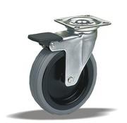 LIV SYSTEMS vrtljivo kolo z zavoro + guma Ø50 x W20mm Za 40kg