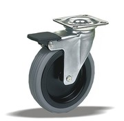 LIV SYSTEMS vrtljivo kolo z zavoro + poliuretanska obloga Ø50 x W25mm Za 70kg
